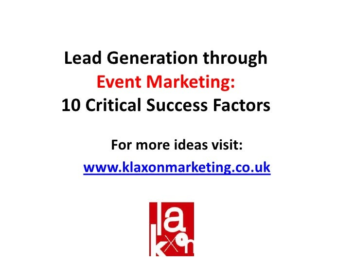 Lead Generation Through Event Marketing
