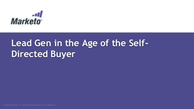 Lead Generation in the Age of the Self-Directed Buyer