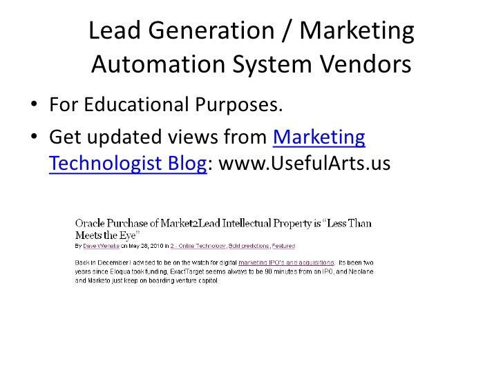 Lead gen vendor_research