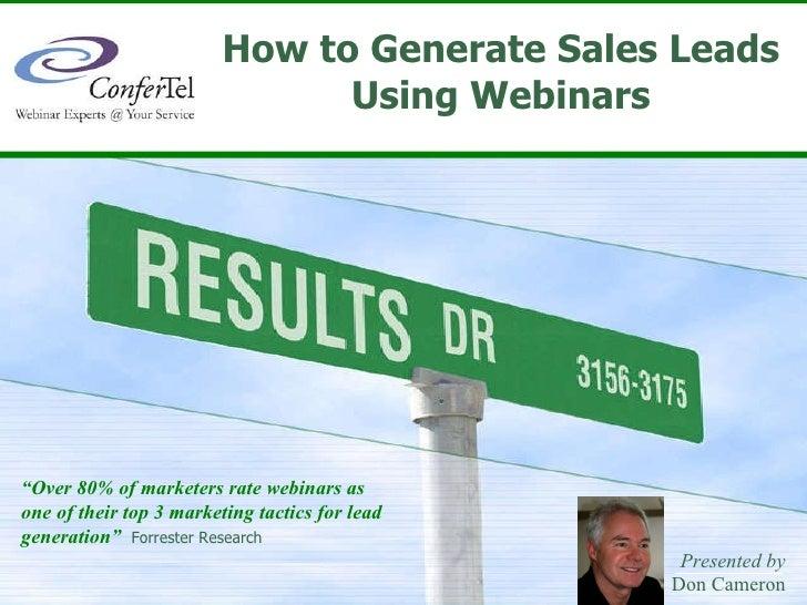 Lead Gen Webinars