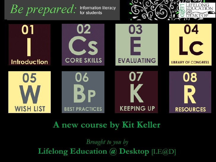 A new course by Kit Keller   Brought to you by Lifelong Education @ Desktop  [LE@D]