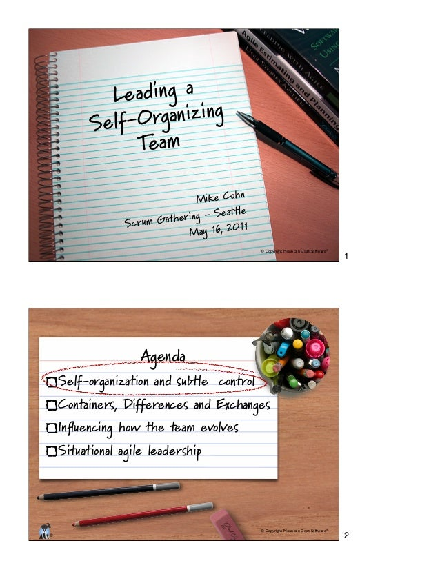 Scrum: Leading a Self-Organizing Team