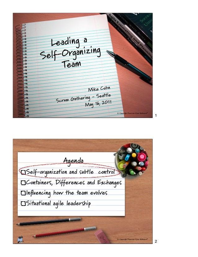 Scrum: Leading a Self-Organizing Team
