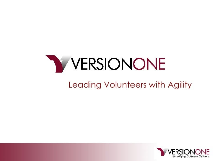 Leading Volunteers with Agility