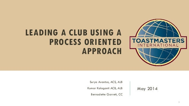 Leading a club using a process oriented approach