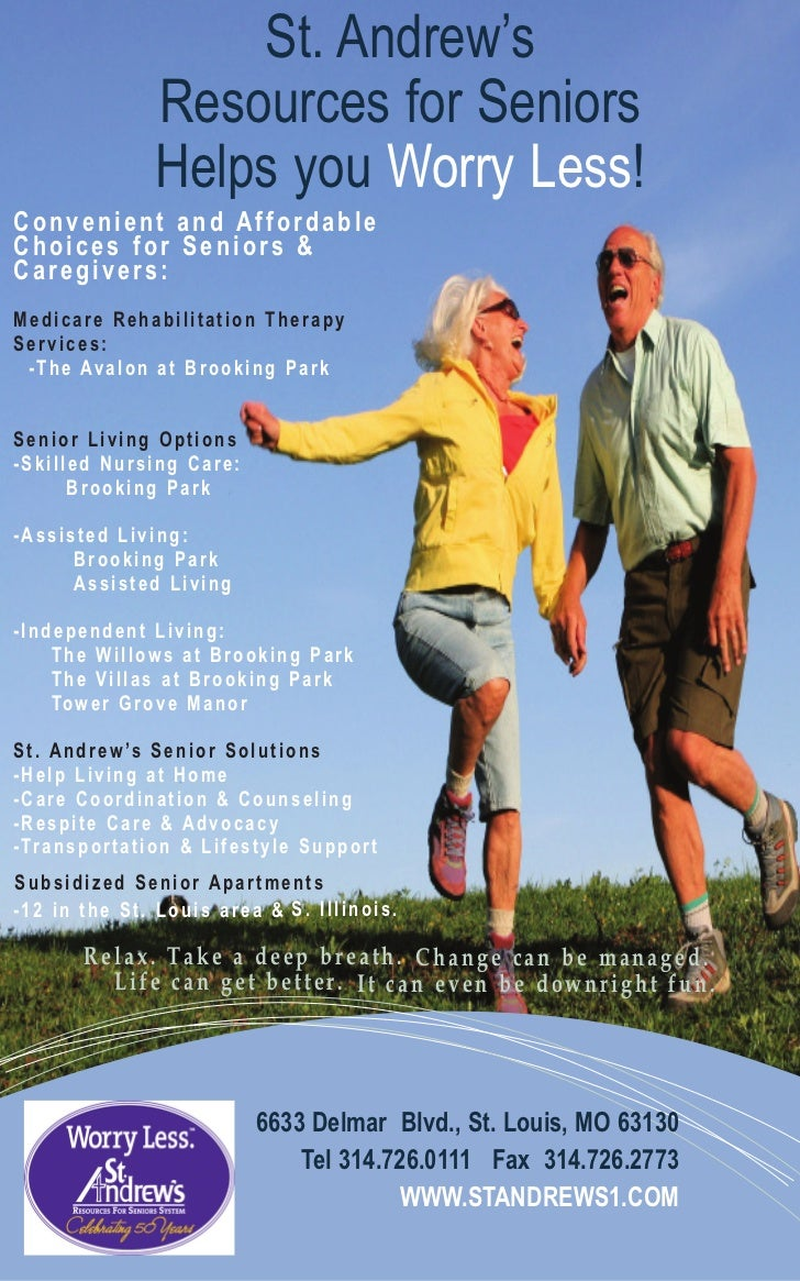St. Andrew's                        Resources for Seniors                        Helps you Worry Less!Convenient and Affor...