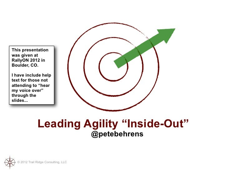 """Leading Agility """"Inside-Out"""""""