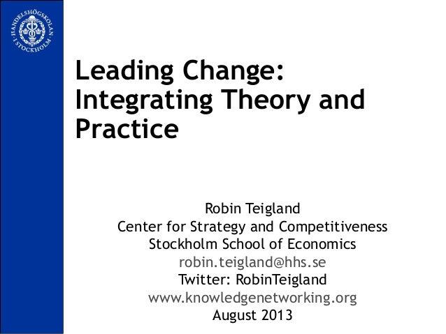 Leading Change teigland
