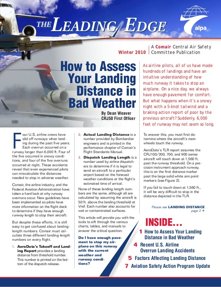 Leading Edge, pilot safety newsletter, Winter 2010