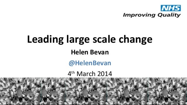 Leading large scale change Helen Bevan