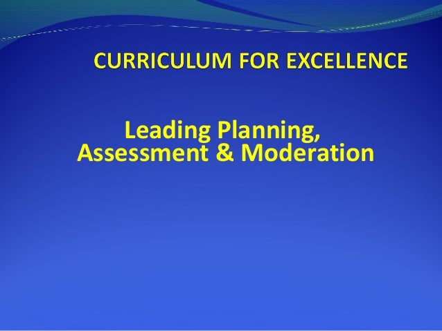 Leading Planning,Assessment & Moderation