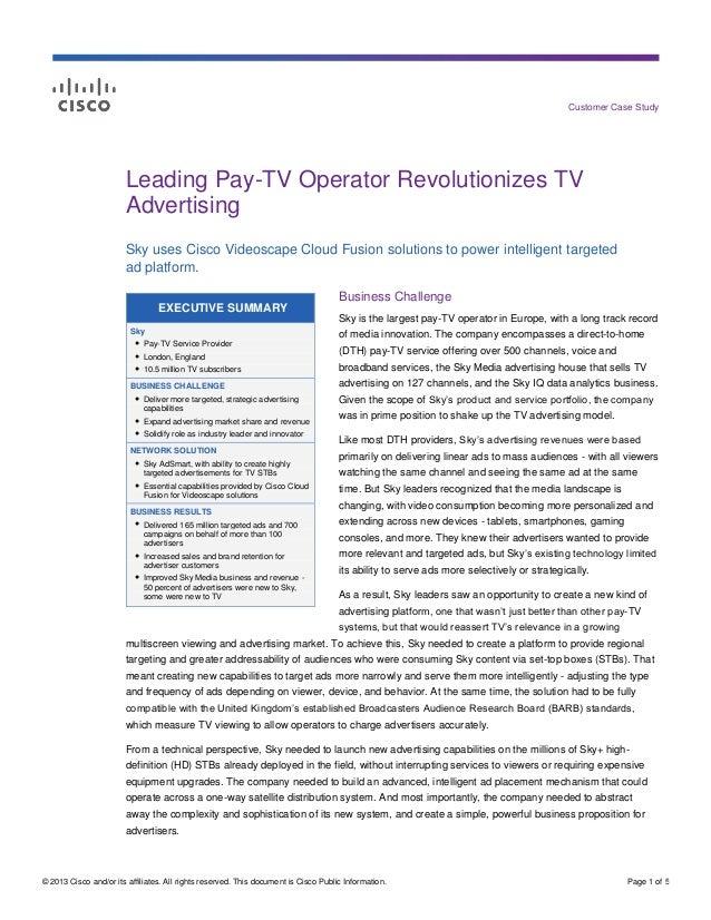 Leading Pay TV Operator Revolutionizes TV Advertising