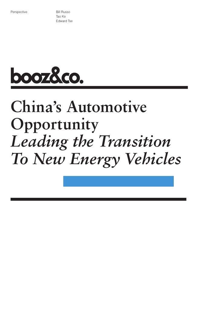 Perspective   Bill Russo               Tao Ke               Edward Tse     China's Automotive Opportunity Leading the Tran...