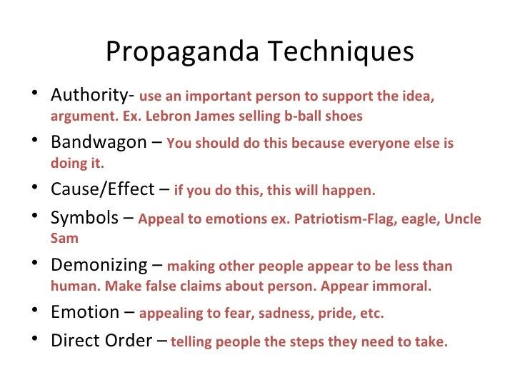Propaganda Techniques Worksheets - Imatei
