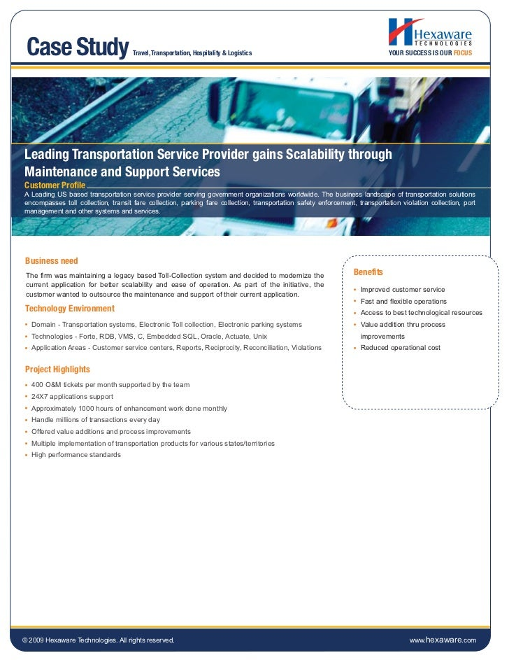 Case Study                          Travel, Transportation, Hospitality & Logistics                                       ...