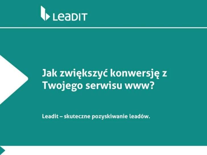 Leadit - jak zwiększyć konwersję?