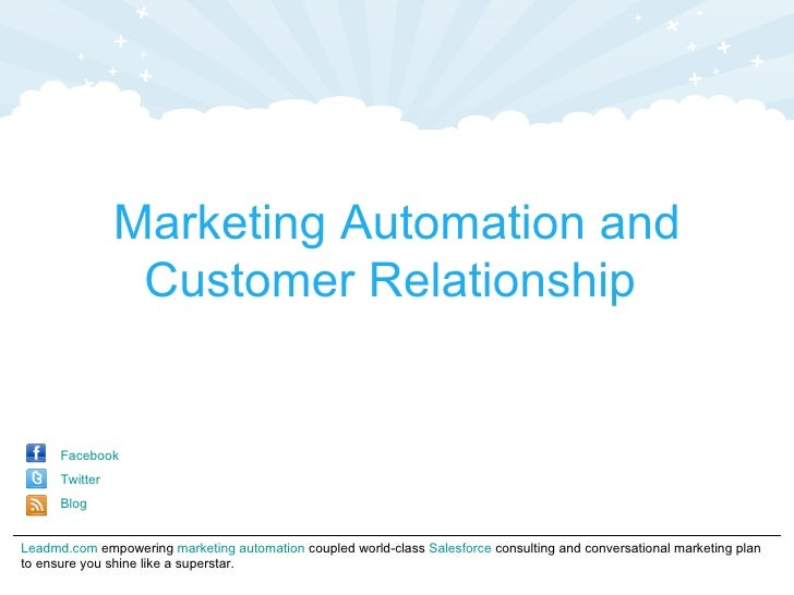 Marketing Automation and                 Customer Relationship      Facebook      Twitter      BlogLeadmd.com empowering m...