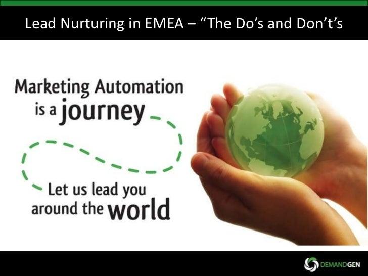 Webcast: Lead Nurturing in Emea
