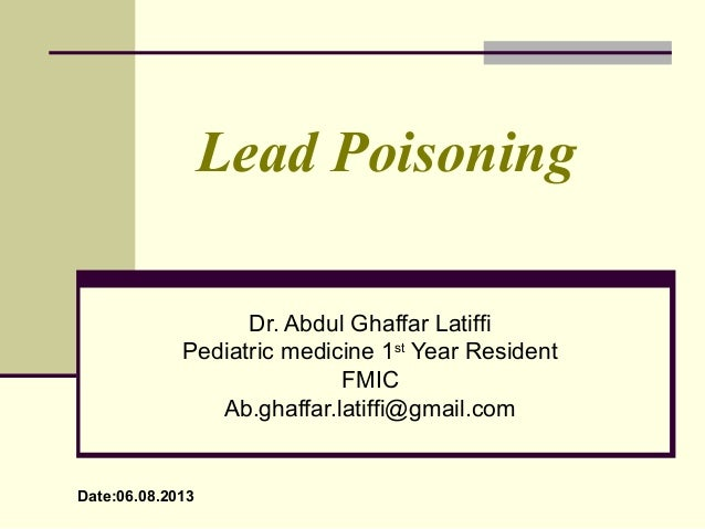 Lead poisoning in Pediatrics
