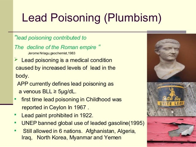 Lead poisoning in pediatrics for When was lead paint banned