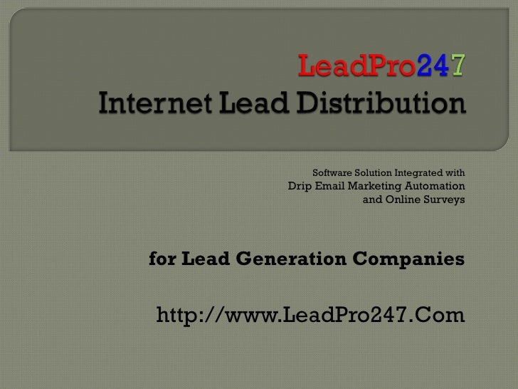 Internet Lead Distribution Software Solution