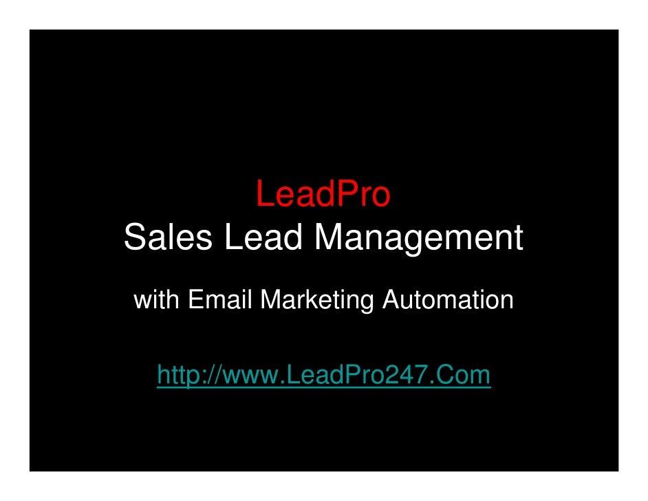 LeadPro Marketing Automation