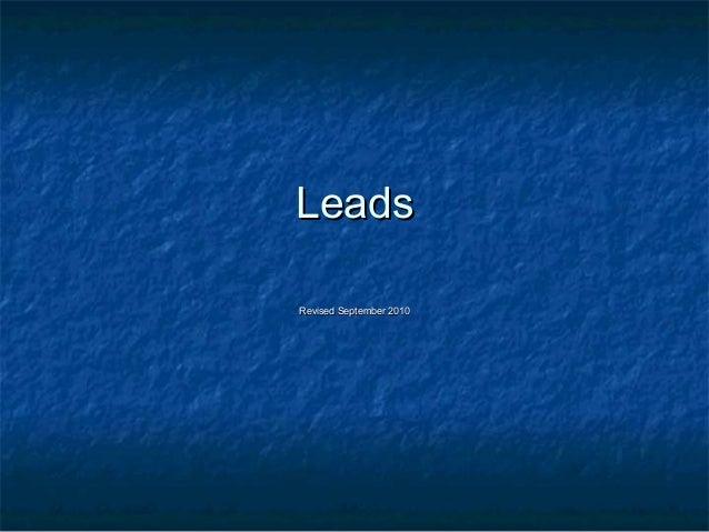 Leads Revised September 2010