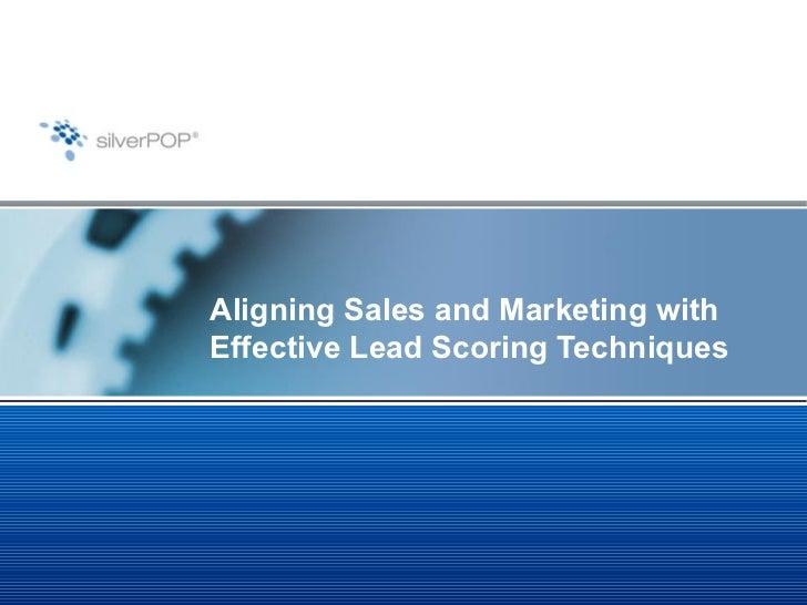 Lead Scoring Aligning Sales Marketing