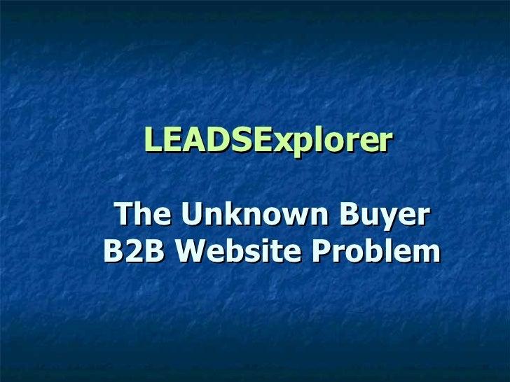 LEADSExplorer The Unknown Buyer B2B Website Problem
