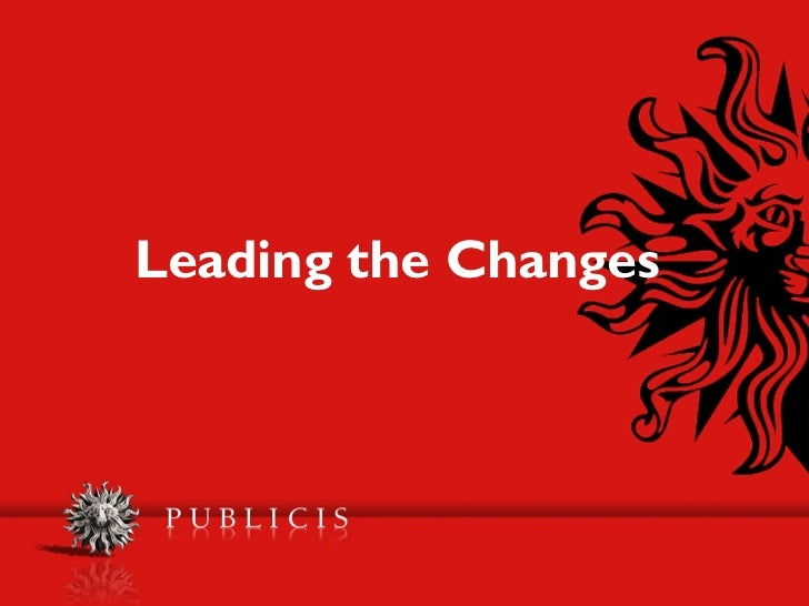 Leading the Changes