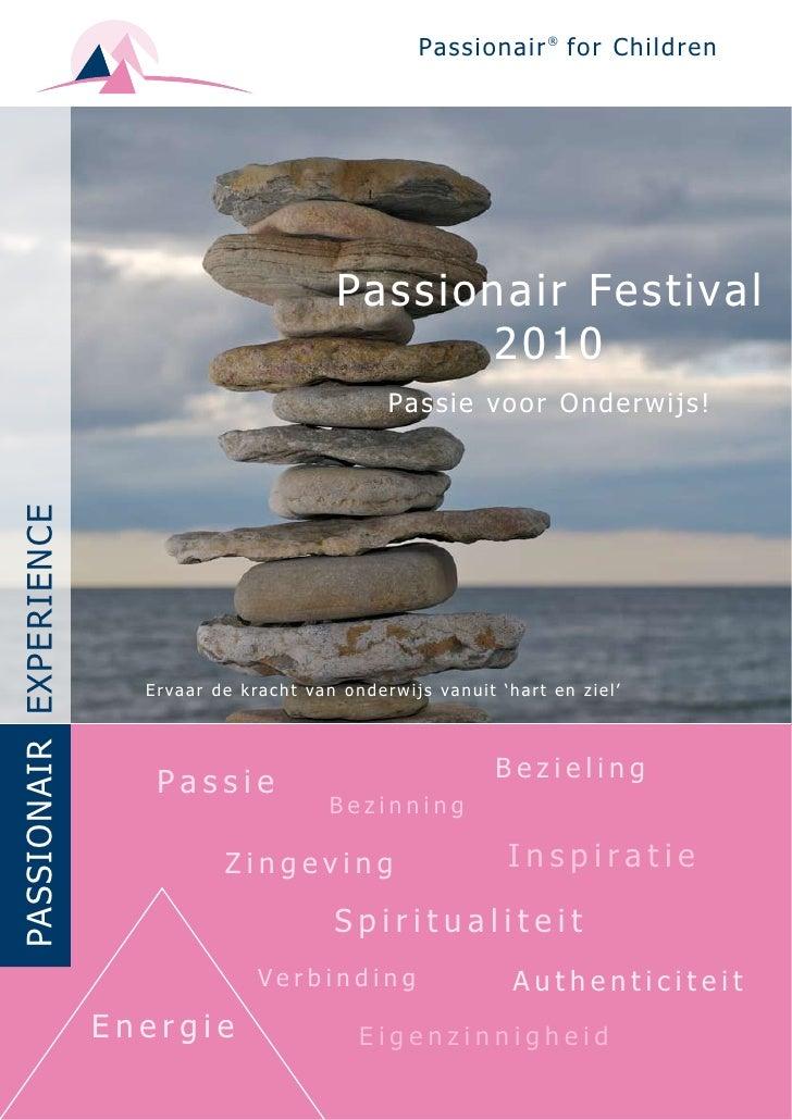 Leaflet Passionair Festival 2010, Passie Voor Onderwijs!