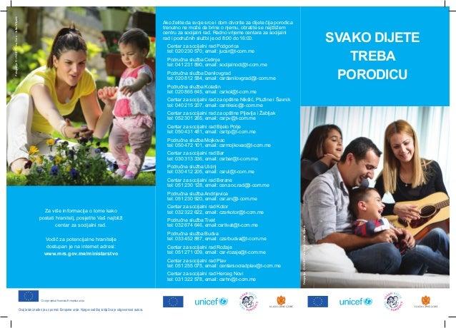 Svako dijete treba porodicu - UNICEF Crna Gora (2013)
