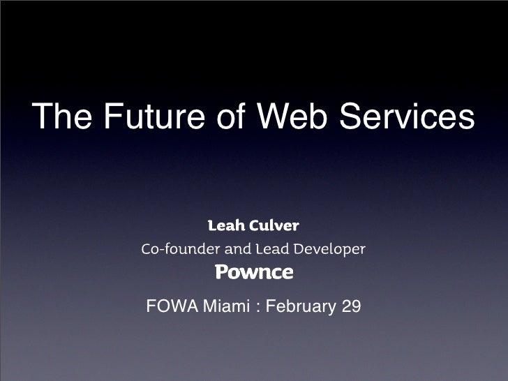 Leah Culver @ FOWA 08