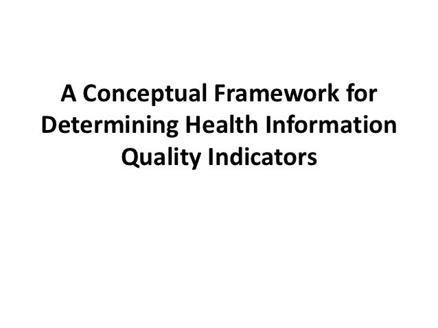 A Conceptual Framework for Determining Health Information