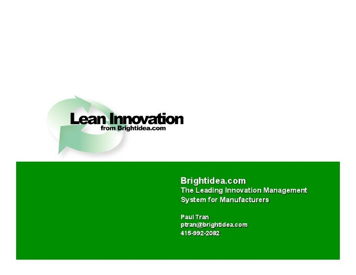 Lean Innovation Overview
