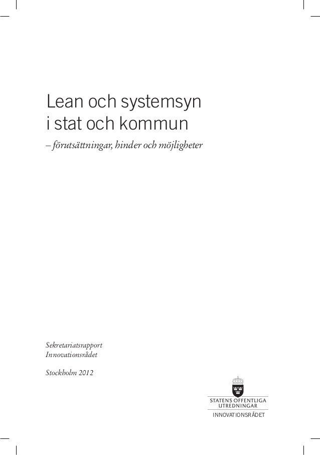 Lean och systemsyn i stat och kommun