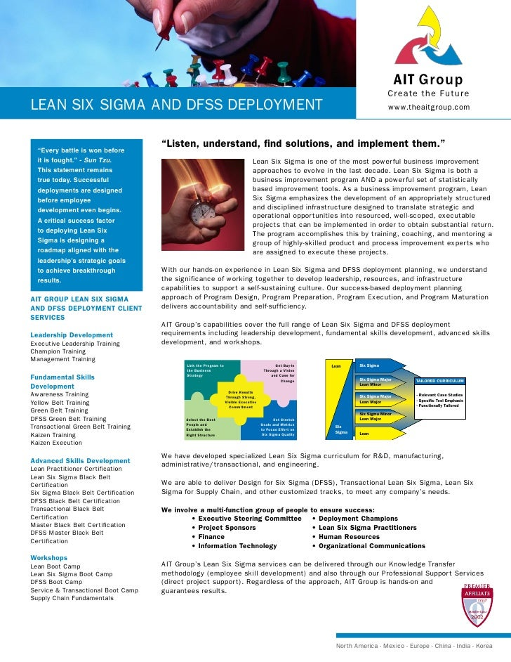 Lean Six Sigma And Dfss Deployment