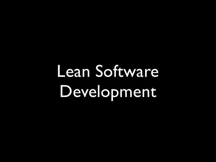 Lean SoftwareDevelopment