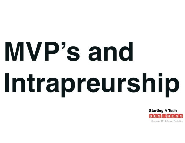 On Intrapreneurship: Lean Startup & MVP's
