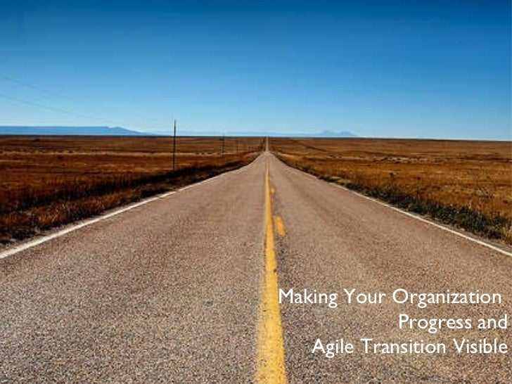 Making Your Organization  Progress and Agile Transition Visible