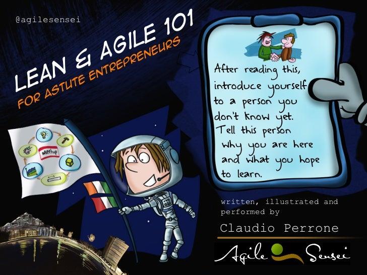 Lean & agile 101 for Astute Entrepreneurs