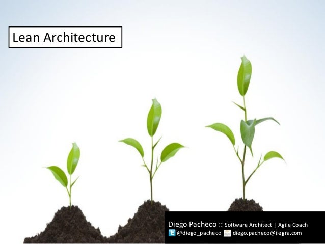 Diego Pacheco :: Software Architect | Agile Coach @diego_pacheco diego.pacheco@ilegra.com Lean Architecture