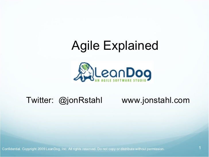 Agile Explained by LeanDog