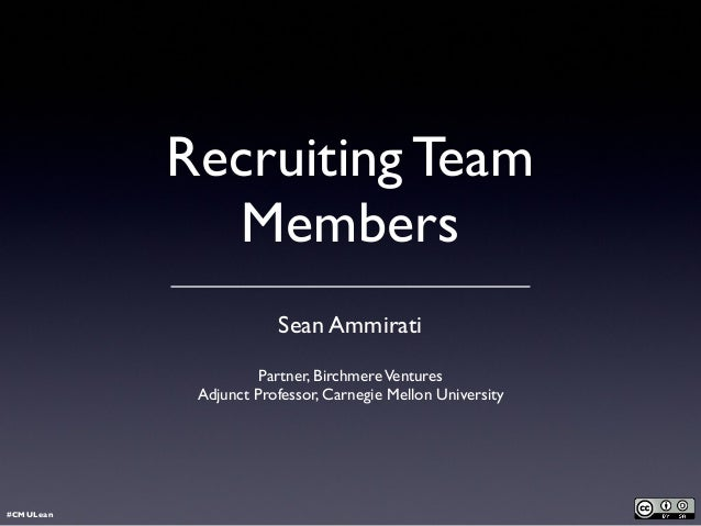 Recruiting Team Members