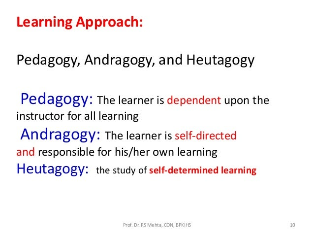 andragogy vs pedagogy paper Pedagogy vs andragogy - duration: 4:01 mohd nurul al-hafiz sha'abani 42 views 4:01 differences and similarities between pedagogy and andragogy.