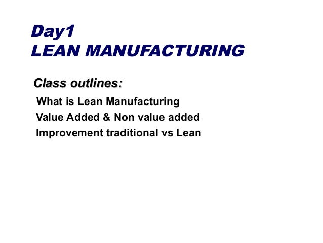 overview of 3 day lean  u0026 kaizen course content