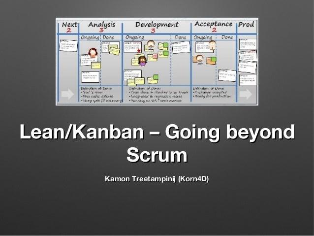 Lean/Kanban – Going beyond Scrum