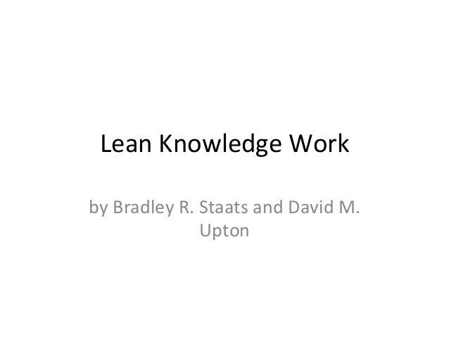Lean Knowledge Work