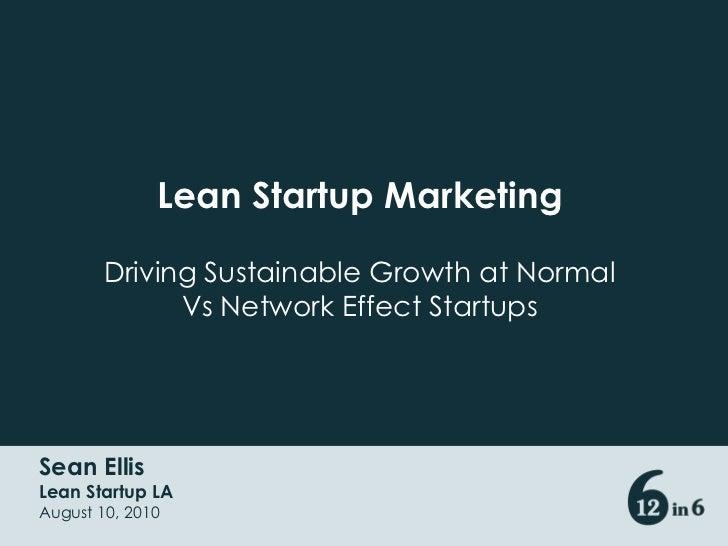 Startup Marketing Slides from Lean Startup Circle LA