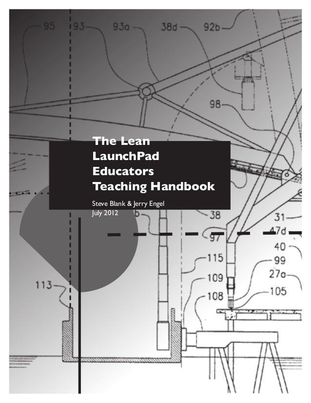 Lean launchpad educators teaching handbook